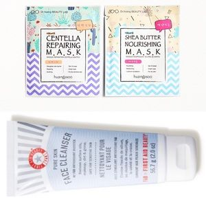 NWT first aid beauty cleanser and sheet mask duo